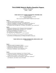 Third BHMS Materia Medica Question Papers - Similima