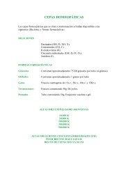 (Listado de cepas homeopáticas)