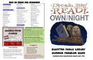 Bluffton Public Library summer program guide