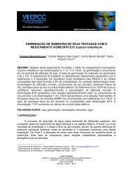 GERMINAÇÃO DE SEMENTES DE SOJA TRATADAS ... - Cesumar