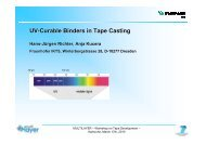 UV-Curable Binders in Tape Casting