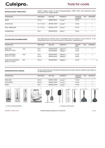 Prijslijst Cuisipro 2012_NL - Demeyere