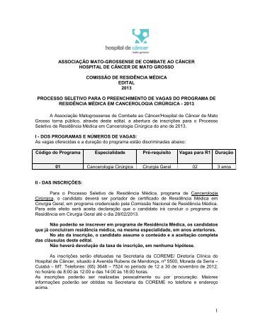 UNIVERSIDADE DE CUIABÁ - Hospital de Câncer