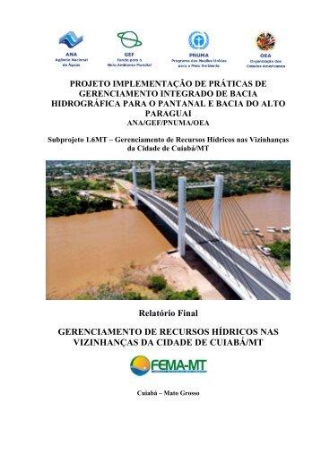 Relatório Final GERENCIAMENTO DE RECURSOS HÍDRICOS NAS