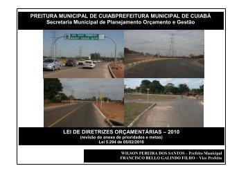 PREITURA MUNICIPAL DE CUIABPREFEITURA MUNICIPAL DE ...
