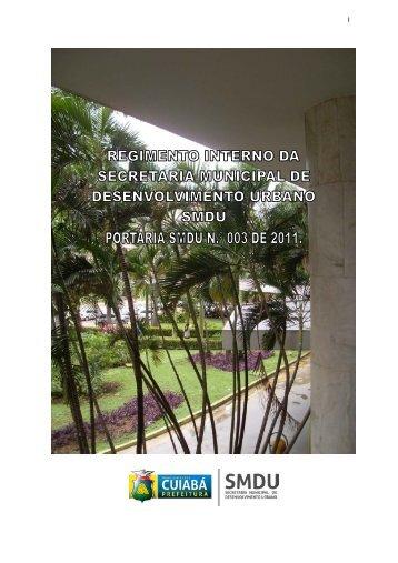 Regimento Interno - Prefeitura de Cuiabá