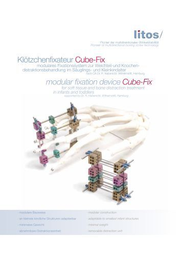 modular fixation device Cube-Fix Klötzchenfixateur Cube-Fix - litos