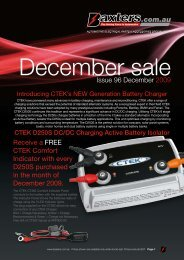 Issue 96 December 2009 Receive a FREE CTEK Comfort ... - Baxters