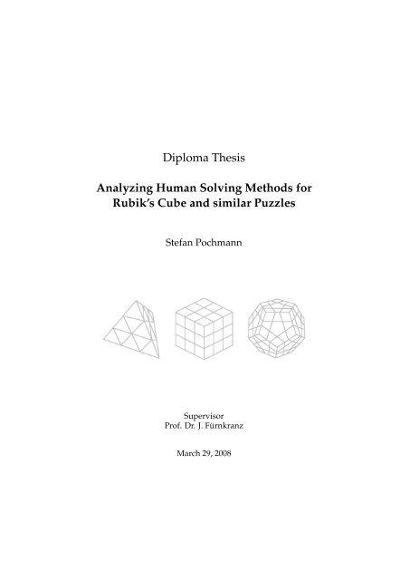 Analyzing Human Solving Methods for Rubik's     - Stefan Pochmann