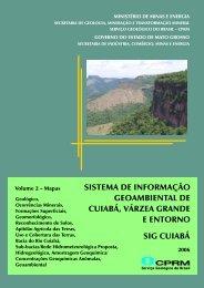 mapa da bacia do rio cuiabá - CPRM