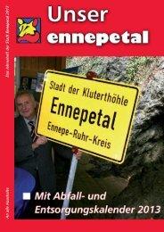 An alle Haushalte Das Jahresheft der Stadt Ennepetal 2013