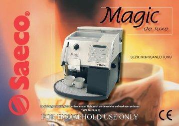 Magic de luxe neu - Kaffee-Service-Balzen
