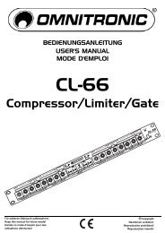 BEDIENUNGSANLEITUNG CL-66 Compressor-Limiter - Djpoint.net