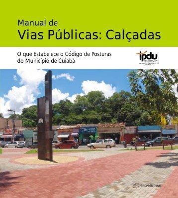 Vias Públicas: Calçadas - Prefeitura de Cuiabá