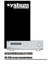 wichtige informationen - IAD-Audio