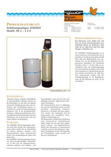 produktdatenblatt - Judo Wasseraufbereitung GmbH