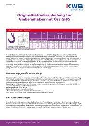 Gießereihaken mit Öse GH/S downloaden, bitte hier - KWB