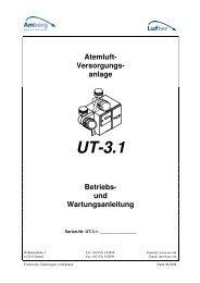 Atemluft- Versorgungs- anlage UT-3.1 Betriebs - Amberg Umwelt ...