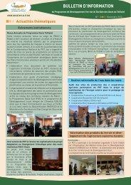 bulletin d'information - Programme de Développement Territorial ...