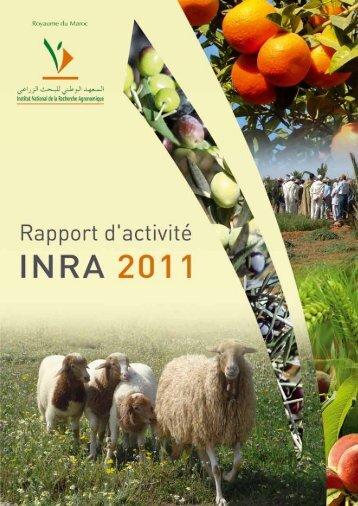 Rapport d'activités: 2011 - Institut National de la Recherche ...