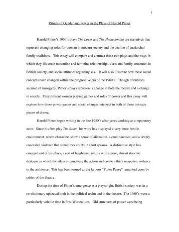 HAROLD PINTER - Joshua Ruebl