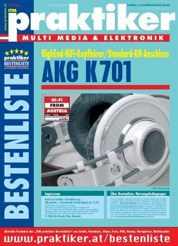 AKG K701: HighEnd-HiFi-Kopfhörer für Standard ... - praktiker.at
