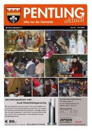 Januar · 133/2009 Mitteilungsblatt - Pentling aktuell