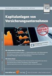 Kapitalanlagen von Versicherungsunternehmen - IIR Deutschland ...