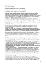 1 Rita Fleiter-Wurg Referat zur Kurzeinführung in das Thema ...