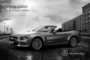 Original-Zubehör für die SL-Klasse. Preisliste. - Daimler