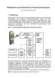 Mobiltelefone und Telefonbücher in Freisprecheinrichtungen 1 ...