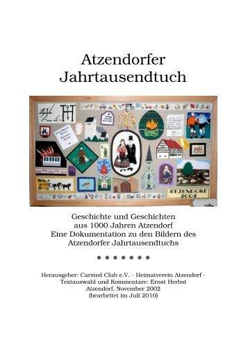 Atzendorfer Jahrtausendtuch - Geschichte und - Stadt Staßfurt