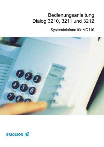 Bedienungsanleitung Dialog 3210, 3211 und 3212