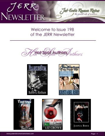 Issue 198 of the JERR Newsletter - Just Erotic Romance Reviews