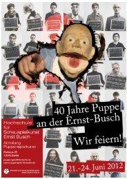 mensch 40 Jahre Studiengang Puppenspielkunst an der HfS Ernst ...