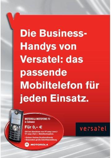 Die Business- Handys von Versatel: das passende Mobiltelefon für ...