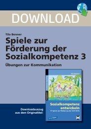 Tilo Benner Spiele zur Förderung der Sozialkompetenz ... - FORREFS