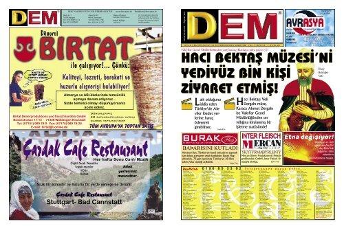 Cardak Cafe Restaurant Dem Gazetesi