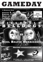 Doch jetzt wird auf- geräumt! (Teil 4) - 1. AFC Bielefeld Bulldogs eV
