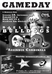 2. Bundesliga Nord - 1. AFC Bielefeld Bulldogs eV