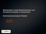 Marktanalyse mobile Betriebssysteme und ... - Viktor Riemer