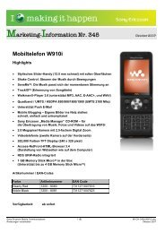 Mobiltelefon W910i - Arp