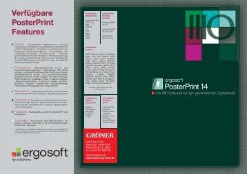 Verfügbare PosterPrint Features - Karl Gröner GmbH