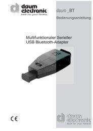 Bluetooth-Adapter - Daum Electronic