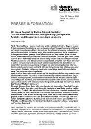 presse information - Daum Electronic