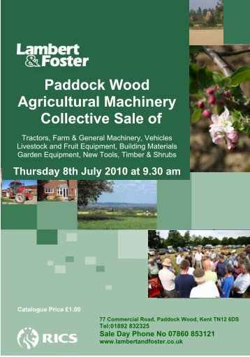 Paddock Wood Agricultural Machinery Collective Sale of