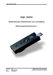 ergo-memo-Bedienungsanleitung - Daum Electronic