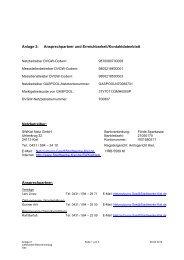 Anlage 2: Ansprechpartner und Erreichbarkeit ... - Stadtwerke Kiel