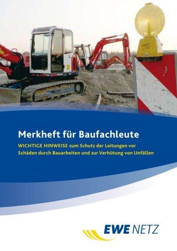 Merkheft für Baufachleute - EWE NETZ GmbH