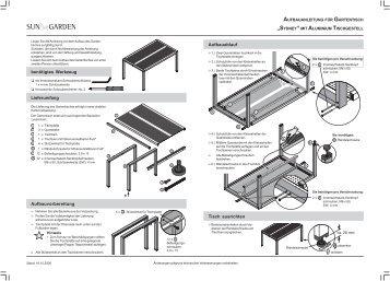 reparaturanleitung zugseil sun garden gmbh. Black Bedroom Furniture Sets. Home Design Ideas